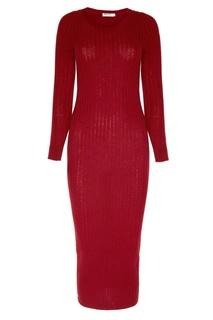 Бордовое платье из шерсти Addicted
