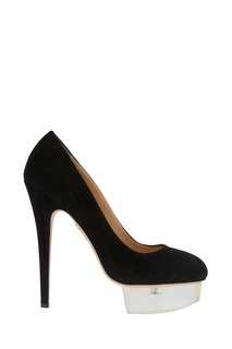 Черные туфли из замши Dolly Charlotte Olympia