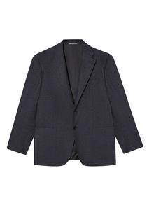 Серый пиджак из шерсти и кашемира Canali