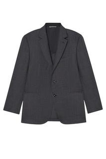 Серый шерстяной пиджак Canali
