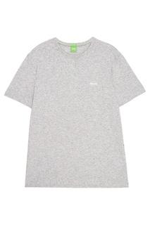 Меланжевая футболка Boss Green