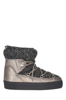 Ботинки-луноходы из шерсти и кожи Ynaff Moncler