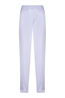 Шелковые брюки в горох голубые Alexander Terekhov