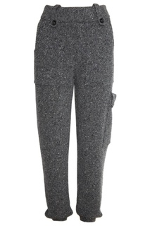 Серые брюки из трикотажа Joseph