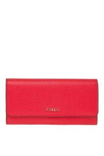 Красный кошелек с клапаном Babylon Furla