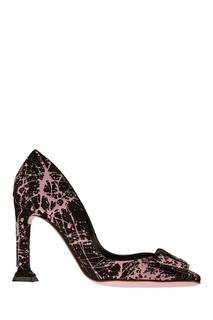Замшевые туфли с брызгами Rosbalet