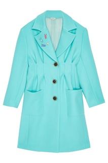 Шерстяное пальто со значками Natasha Zinko