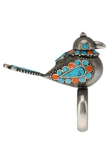 Кольцо-птичка из латуни Valentino