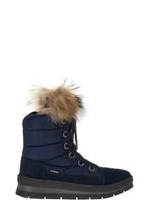 Синие стеганые ботинки Jog Dog