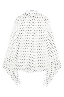 Шелковая блузка с монограммами Balenciaga