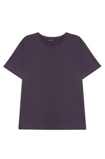Серая хлопковая футболка Blank.Moscow