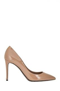 Бежевые лакированные туфли Dolce & Gabbana