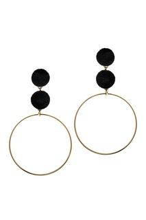 Серьги-кольца с бархатом Lisa Smith