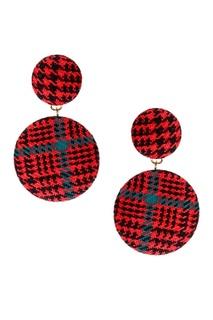 Красные серьги с текстильной отделкой Lisa Smith