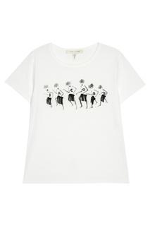 Белая футболка с принтом и логотипом Marc Jacobs