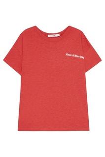 Красная футболка с надписью Rag&Bone