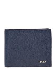 Синий кожаный кошелек Man Marte Furla