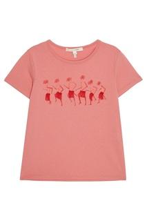 Розовая футболка с принтом и логотипом Marc Jacobs