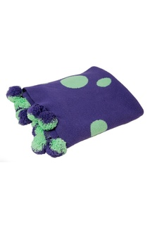Фиолетовый плед с помпонами «Цирк» La Petite Joie