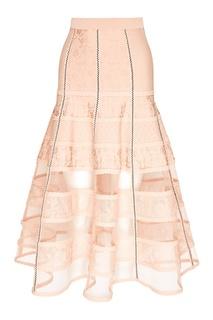 Расклешенная юбка-миди Alexander Mc Queen