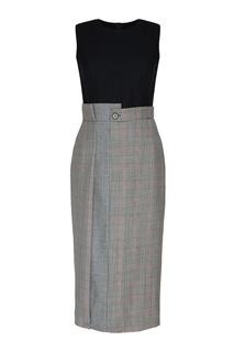 Комбинированное платье Alexander Mc Queen