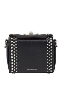 Черная сумка с заклепками The Box Alexander Mc Queen