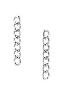 Серебряные серьги-цепи Exclaim