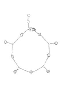 Серебряный браслет с подвесками Exclaim