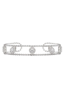 Серебряный браслет с кристаллами Exclaim
