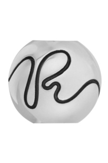 Серебряный шарм Letter R U Jewels