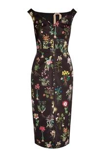 Платье-футляр с цветочным принтом No.21