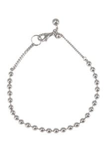 Браслет серебряный из мелких шариков Exclaim