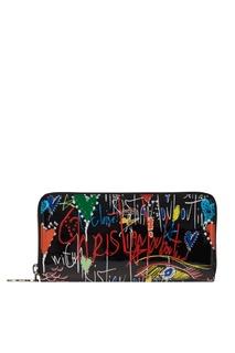 Кожаный кошелек с принтом W Panettone Christian Louboutin