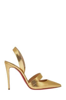 Золотистые кожаные туфли Actina 100 Christian Louboutin