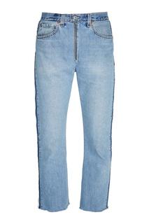 Голубые джинсы с необработанными срезами Re/Done