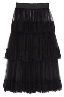 Многослойная юбка из сетки Dolce & Gabbana
