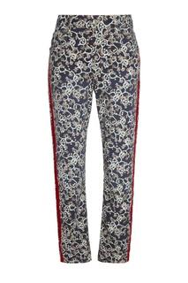 Узорчатые брюки с лампасами Isabel Marant Etoile
