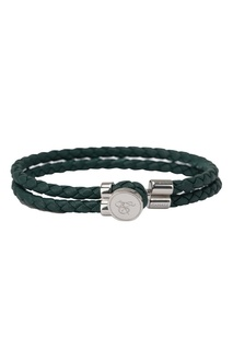 Зеленый браслет из кожи Canali
