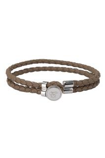 Кожаный браслет цвета хаки Canali