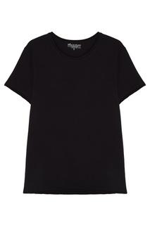 Черная футболка свободного кроя с круглым вырезом Bread&Boxers