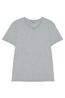 Серая футболка свободного кроя с круглым вырезом Bread&Boxers