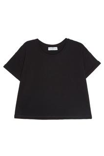 Черная хлопковая футболка Sport Angel