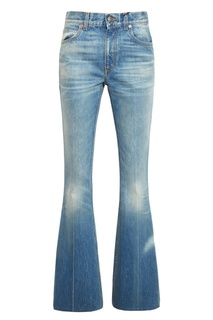 Расклешенные потертые джинсы Gucci