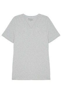 Серая футболка с V-вырезом Bread&Boxers