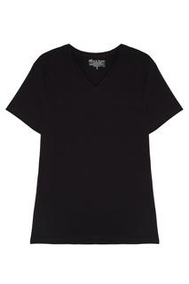 Черная футболка с V-вырезом Bread&Boxers