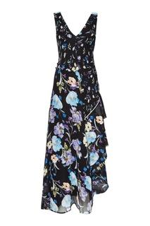 Черное шелковое платье с цветами 3.1 Phillip Lim