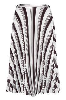 Плиссированная юбка с принтом Balenciaga