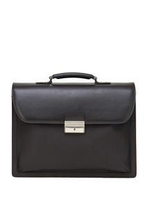 Кожаный портфель коричневый Canali