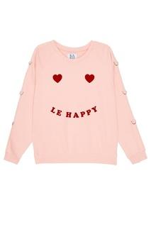 Розовый хлопковый свитшот Zoe Karssen
