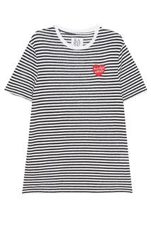 Льняная футболка в полоску Zoe Karssen